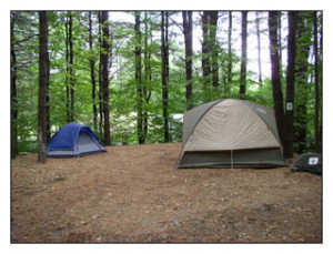 Primitive Tent camping in MA at Country Aire Campground for family camping with tents