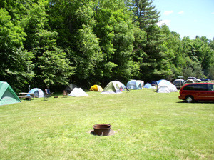 tent camping in MA - primitive campsites